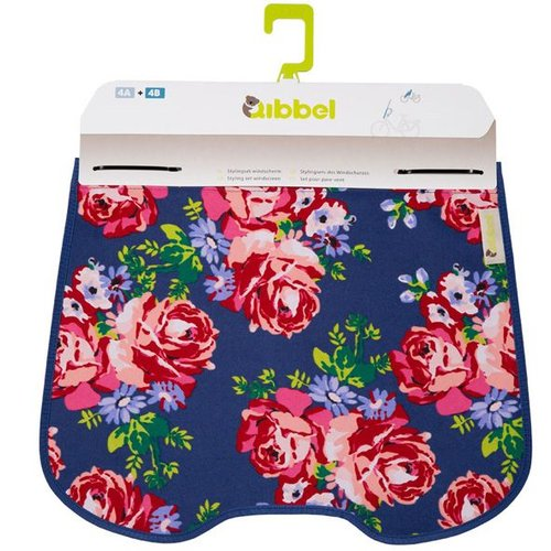 Qibbel windschermflap Roses blue