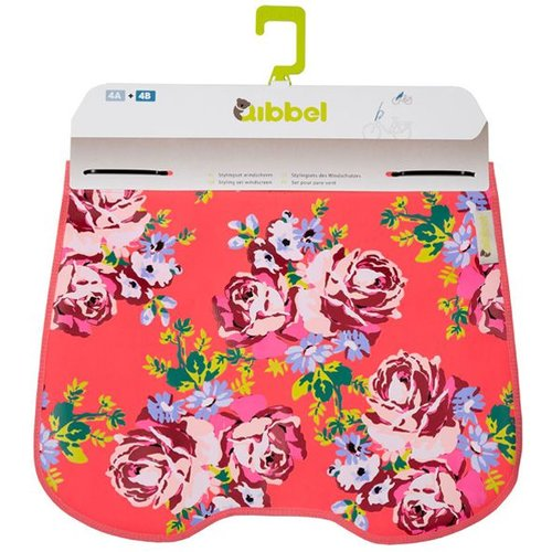 Qibbel windschermflap Roses red