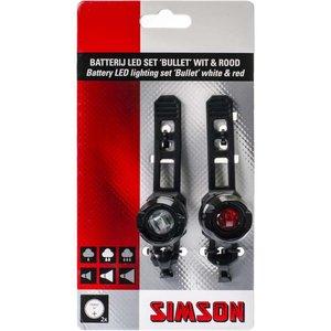 Simson verlichting set Bullit 2,5/1,5 lux batt