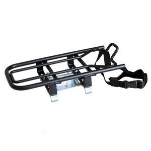 Steco universele drager geschikt voor elektrische fietsen zwart