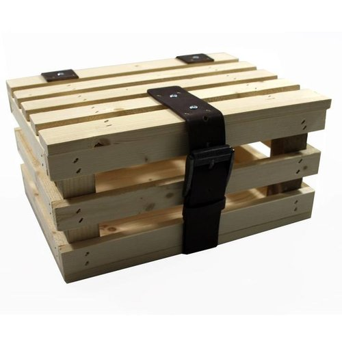 HoutHout Transport krat mini hout +deksel