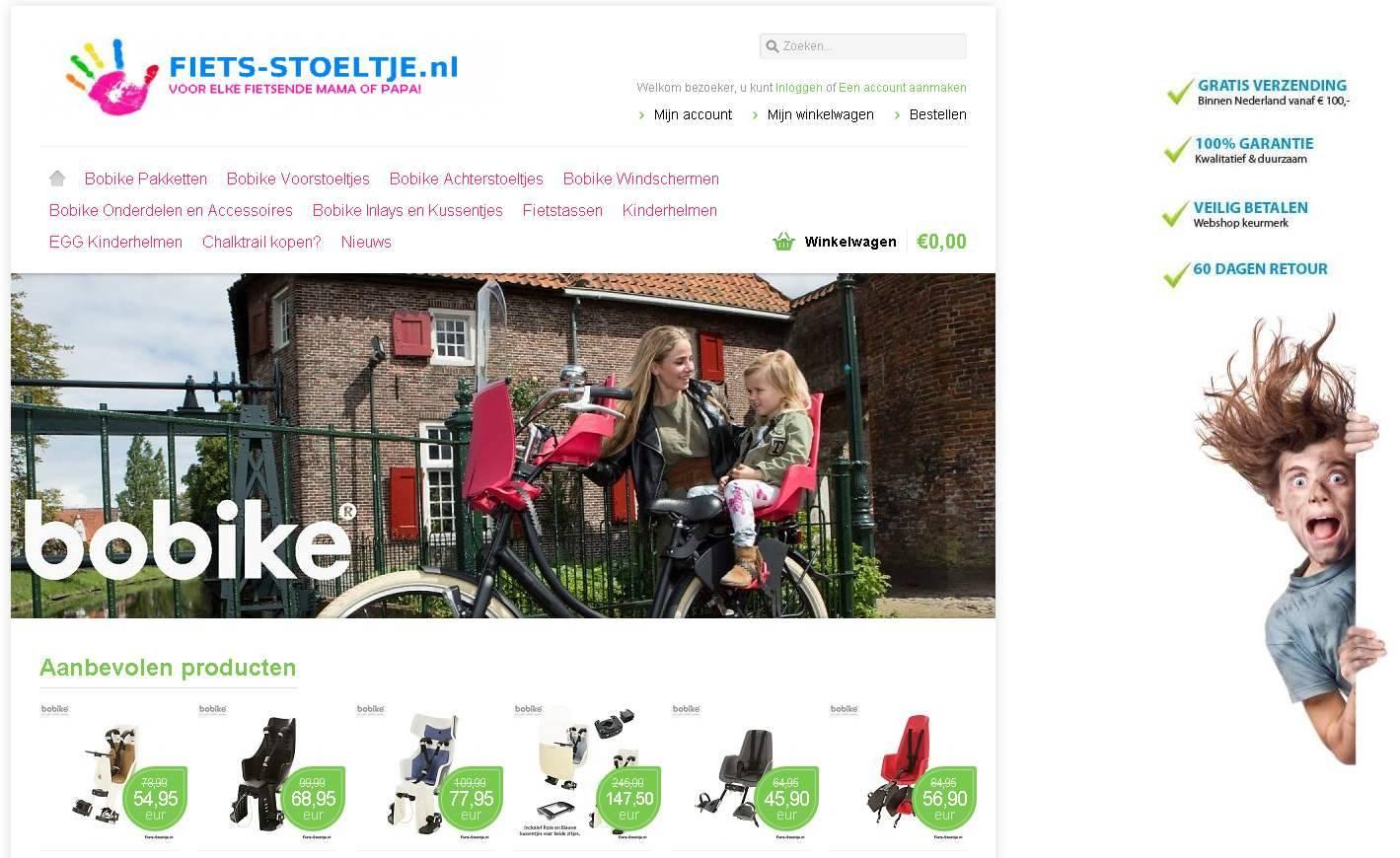 Fiets-Stoeltje.nl is totaal vernieuwd