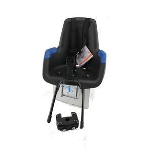 Bobike Mini Plus Classic Zwart met Blauw Fietsstoeltje