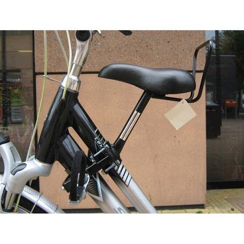 Zadel op Stang Buiszadel voor een Damesfiets met aluminium dubbel frame (Buiszadel)