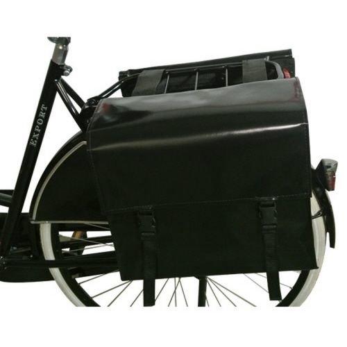 de Poort Dubbele Fietstas 55L Zwart