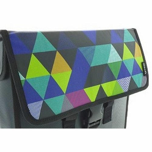 Beck Enkele Shopper Fietstas Colored Triangles