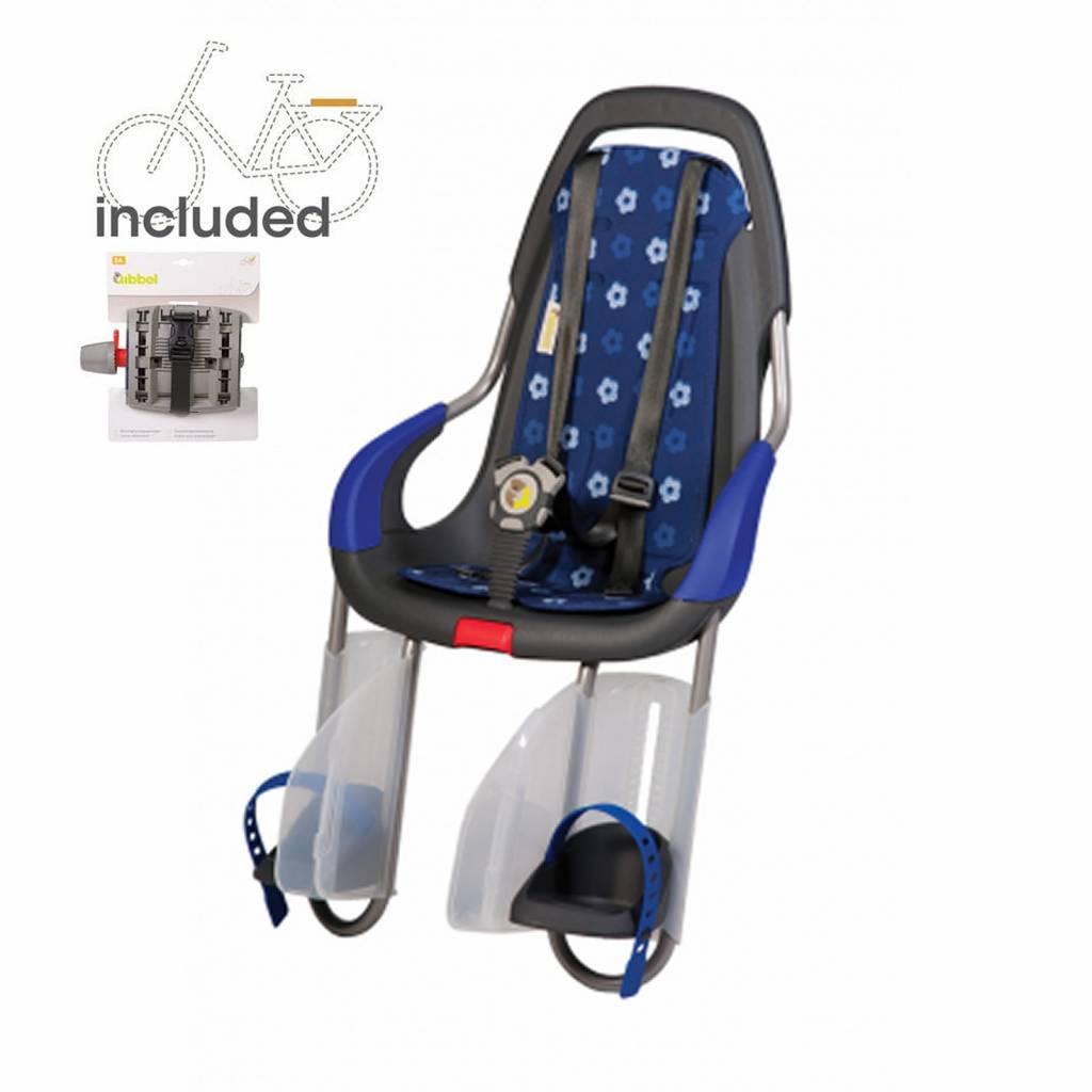 achterzitje inclusief bevestigings materiaal voor bagagedrager Royal blue