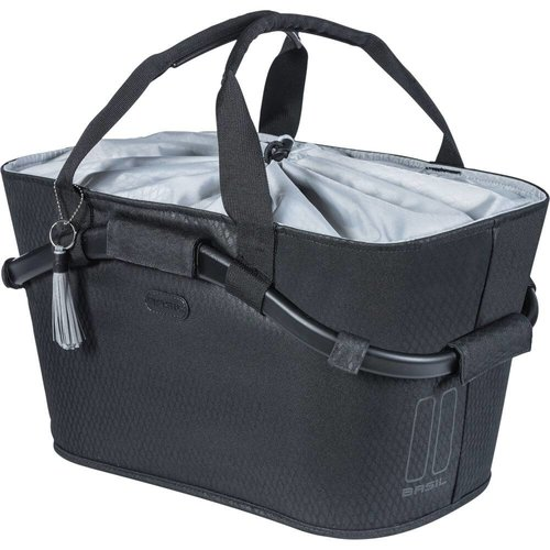 Basil  mand achter Carry All midnight black