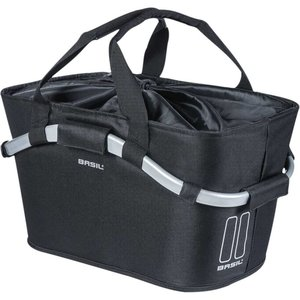 Basil mand achter Carry All Classic Black