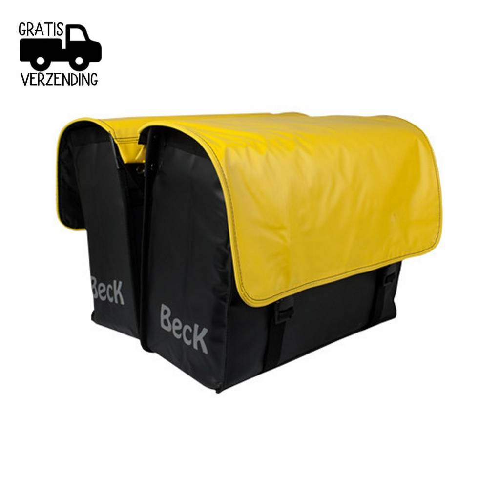 Beck Dubbele Fietstas C U S T O M Compleet PVC Yellow