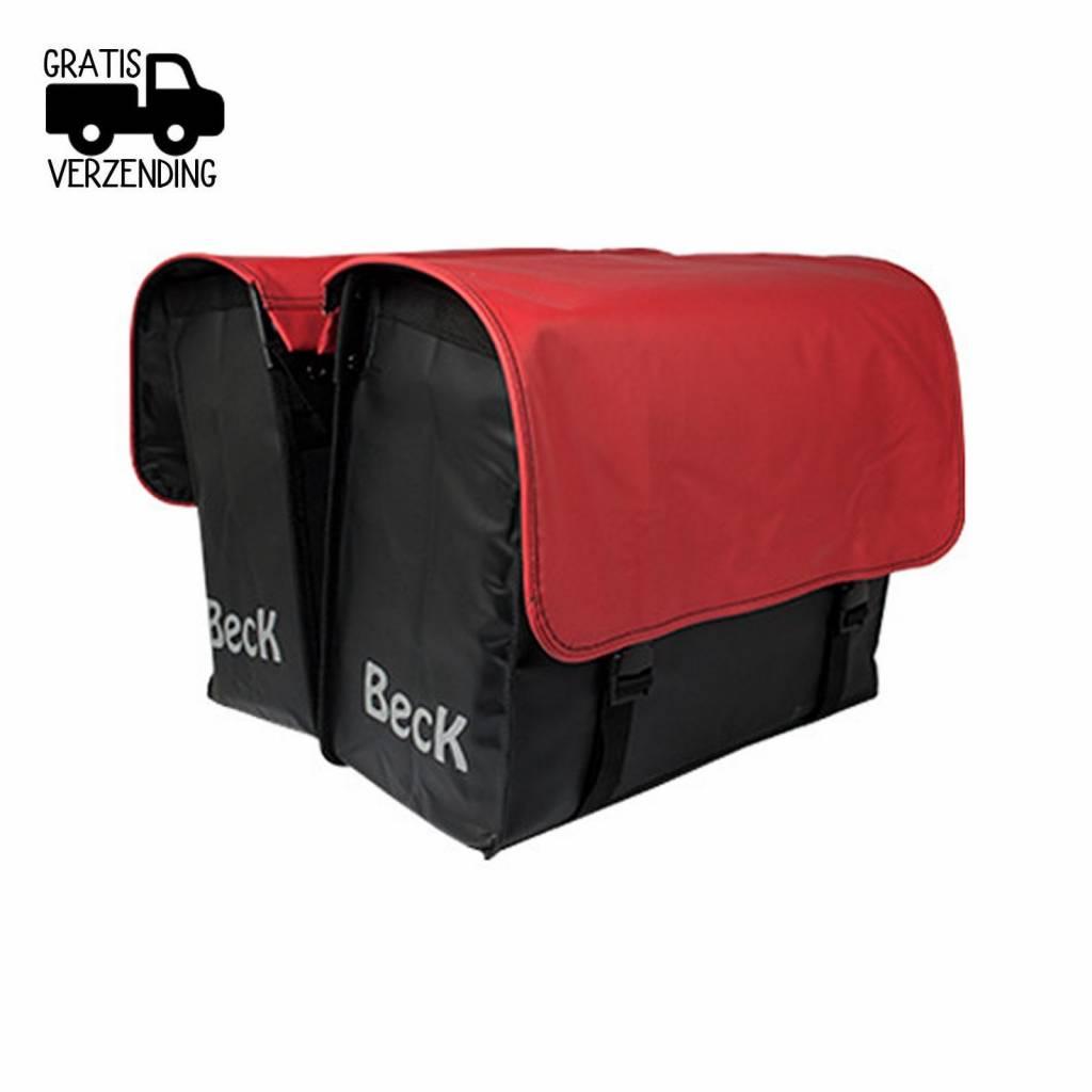 Beck Dubbele Fietstas C U S T O M Compleet PVC Red