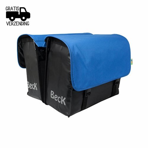 Beck Dubbele Fietstas CUSTOM Compleet Canvas Cobalt