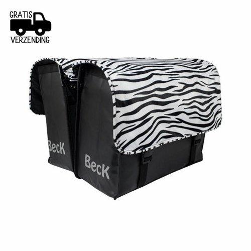 Beck Dubbele Fietstas C U S T O M Compleet Zebra