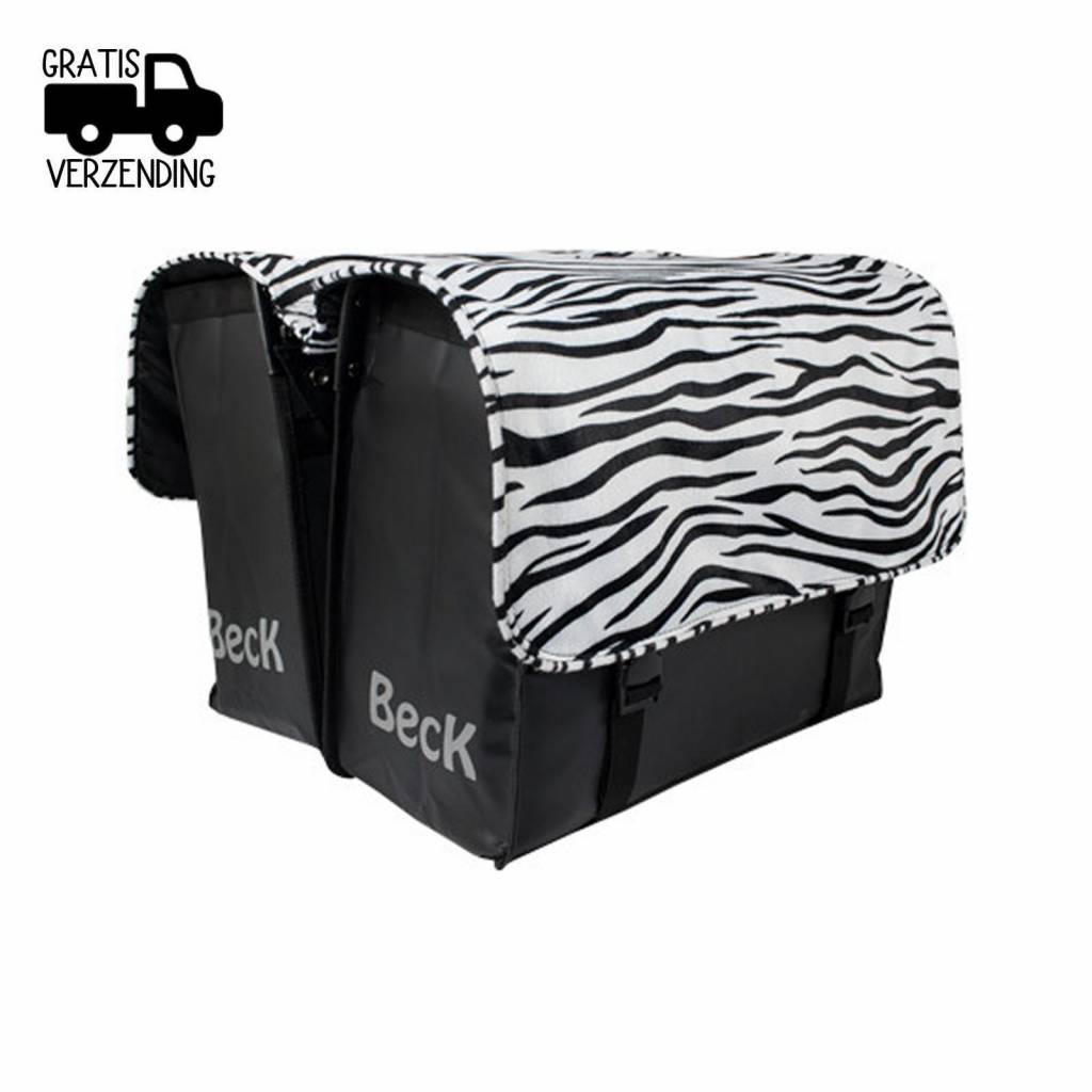 Dubbele Fietstas CUSTOM Compleet Zebra