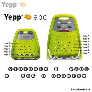 Thule Yepp abc letter V