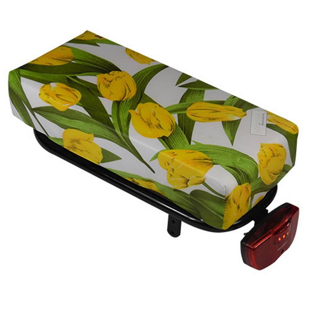 Hooodie Bagagedragerkussen BIG Cushie Tulips Yellow