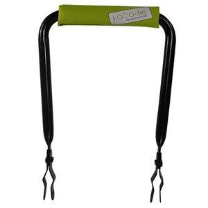 Hooodie Rugsteun zwart met Lime Solid rugkussentje