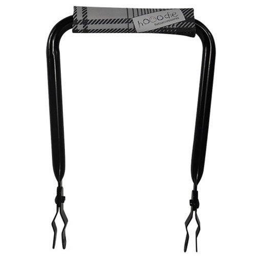 Hooodie Rugsteun zwart met Super White Plaid rugkussentje