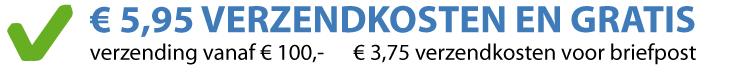 Gratis verzending vanaf € 100,00
