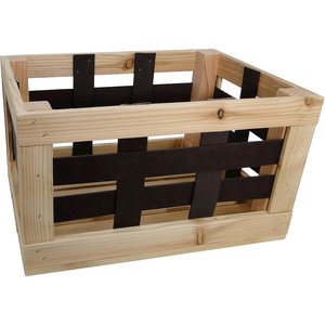 Woodybox transport krat leren raster