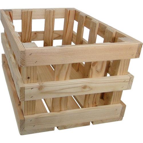 Woodybox  transport krat met houten raster