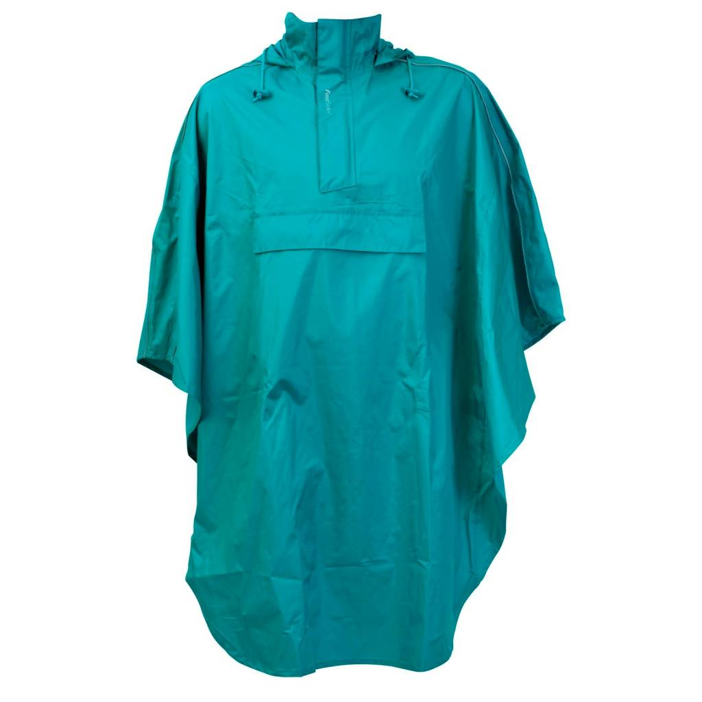Poncho Blauw One Size