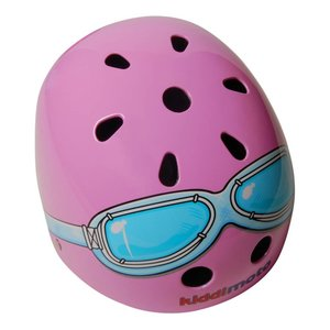 Kiddimoto Kinder Fietshelm Pink Goggle Medium(53 - 58 cm)
