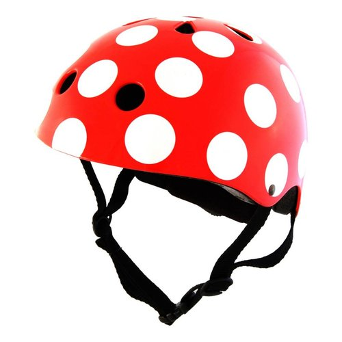 Kiddimoto Kinderhelm Red Dotty Small