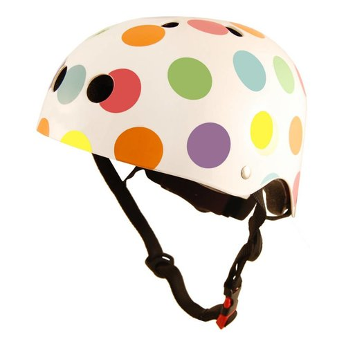 Kiddimoto Kinderhelm Pastel Dotty Medium
