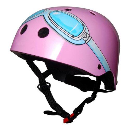 Kiddimoto Kinderhelm Pink Goggle Small