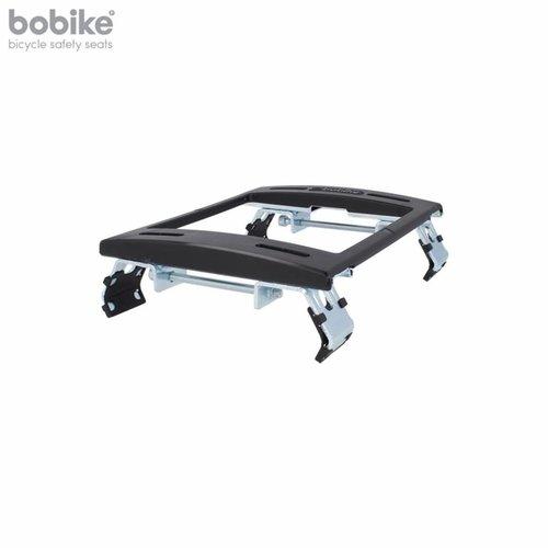 Bobike Maxi Exclusive Plus Tour Urban Grey achterstoeltje met Elektrische Fiets Bevestiging