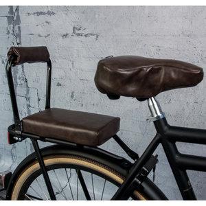 Ohmiomine Fietskussen Leather Look Chocolade Bruin