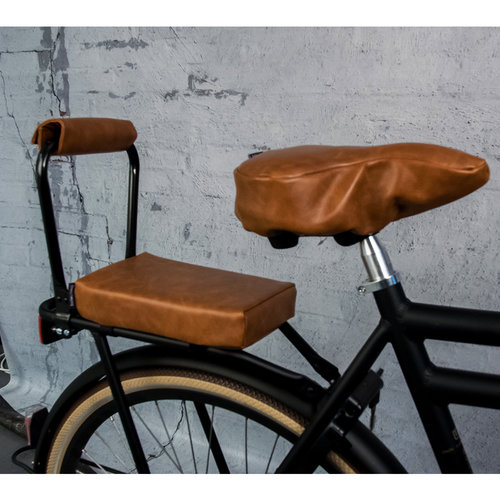 Ohmiomine Fietskussen Leather Look Cognac