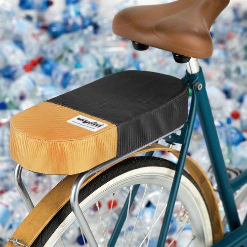 URBAN PROOF Bagagedragerkussen Fietskussen Recycled Zwart Geel