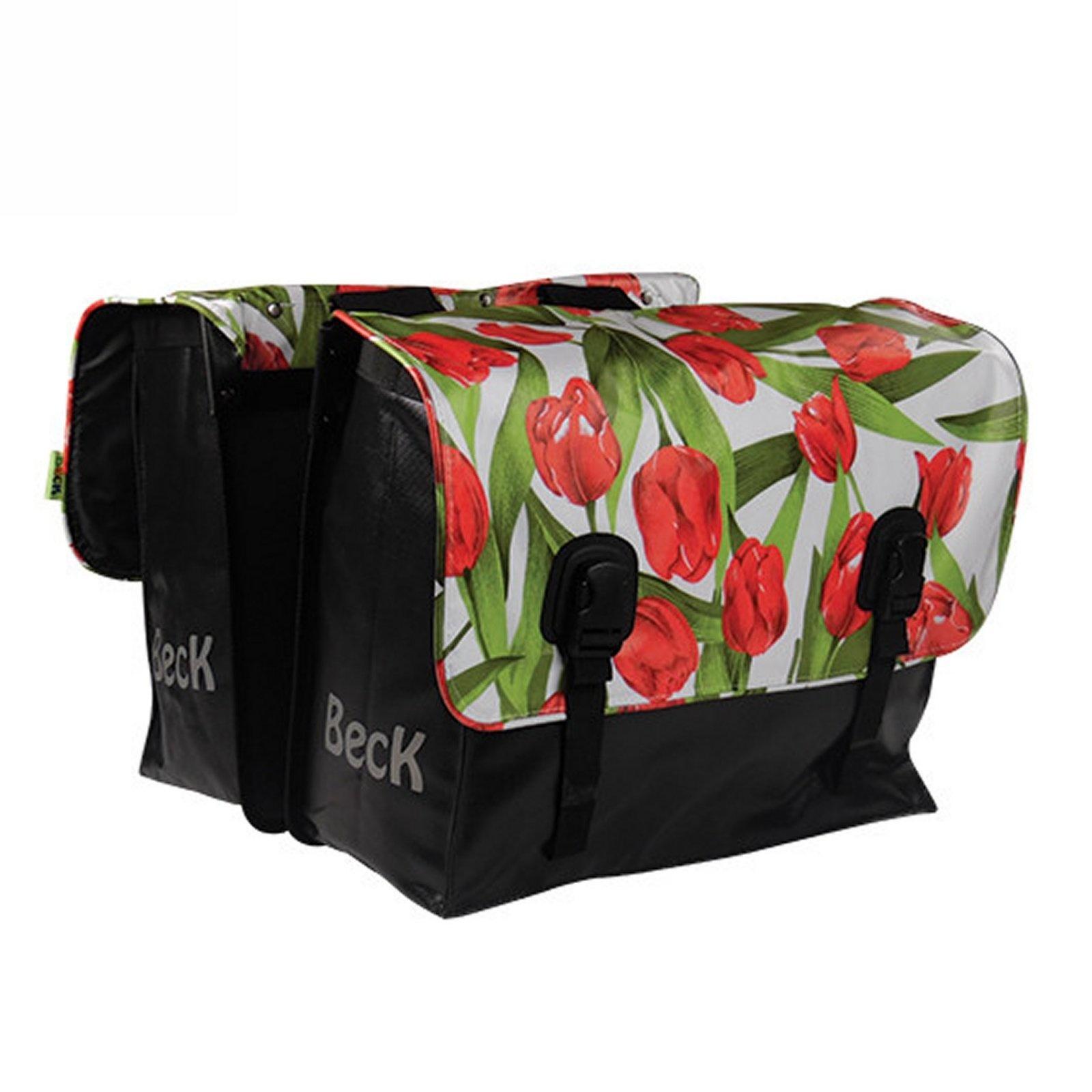 Dubbele Fietstas Classic Tulips Red