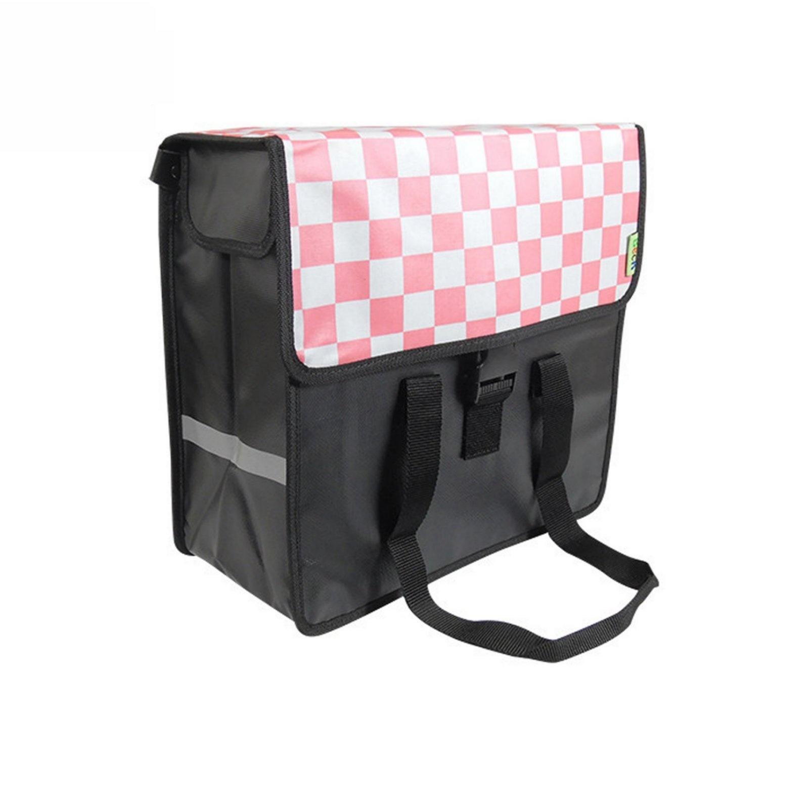 Enkele Shopper Fietstas Pink Checker
