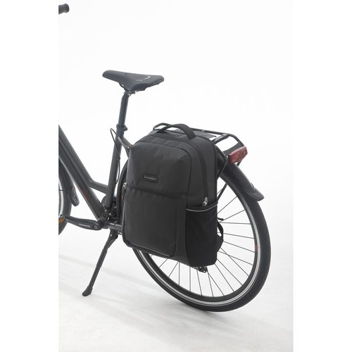 "New Looxs Fietstas/rugtas Nevada17""inch laptoptas Black"