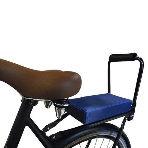Flo en Zo Fietskussen Pakket Blauw met rugleuning en voetsteuntjes