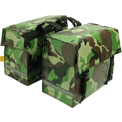 de Poort Dubbele Fietstas 46L Camouflage