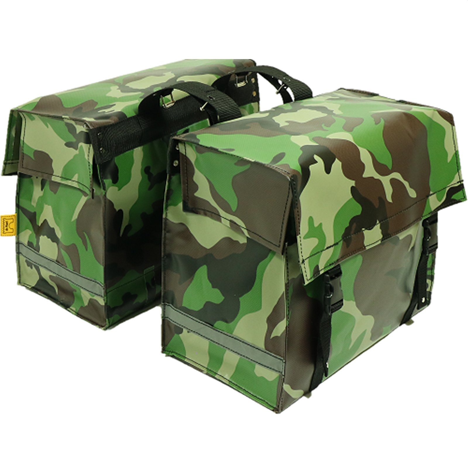 Dubbele Fietstas 46L Camouflage