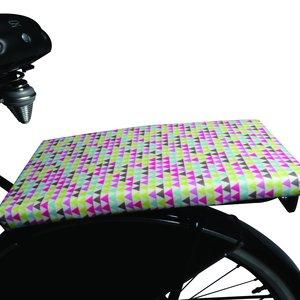 BikeCap Fietskussen This Side Up Pink