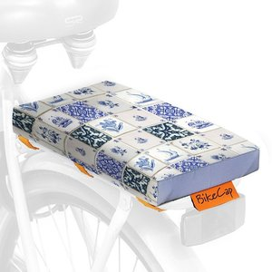 BikeCap Fietskussen Delft Blue Tiles