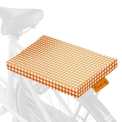 BikeCap Fietskussen Orange Checkmate