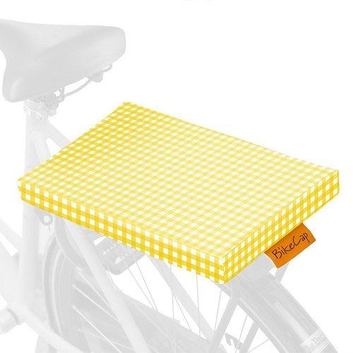 BikeCap Fietskussen Yellow Checkmate