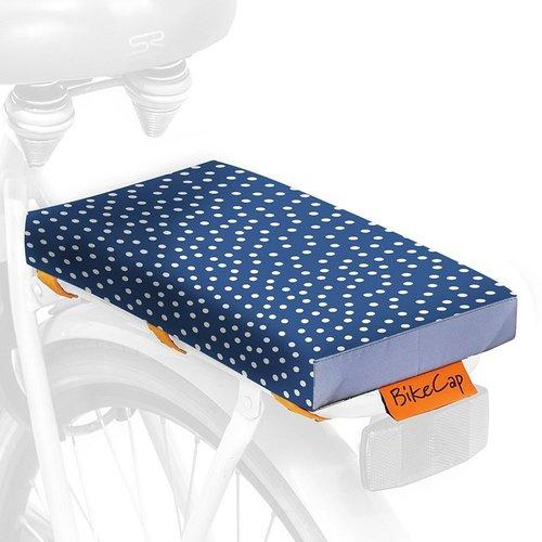 BikeCap Fietskussen Blue Dots