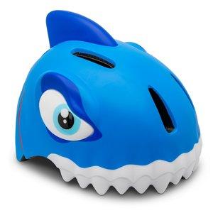 Crazy Safety Kinderhelm / Fietshelm Blauwe Haai S