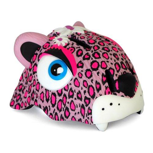 Crazy Safety Kinderhelm / Fietshelm Roze Luipaard S
