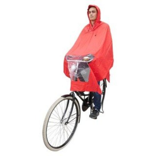 Hooodie Poncho rood, koplampproof, one-size-fits-all