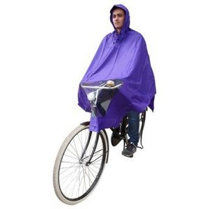 Hooodie Poncho paars, koplampproof, one-size-fits-all
