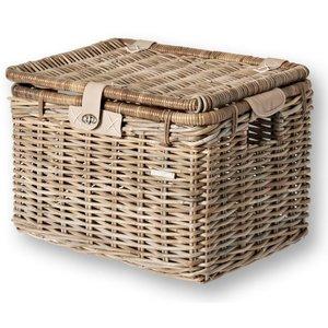 Basil Mand  riet denton basket L 45x32x32 nature grey